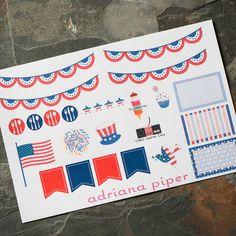 July Sampler Stickers for Erin Condren Life Planner, Plum Paper Planner, Filofax, Kikki K, Calendar or Scrapbook by adrianapiper on Etsy https://www.etsy.com/listing/237095362/july-sampler-stickers-for-erin-condren