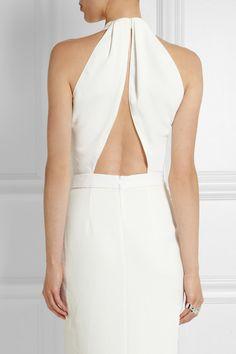 Dion LeeOpen-back textured-crepe midi dress