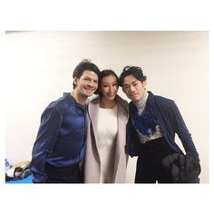 With Stephan Lambiel(Swiss)  and Mai Asada : XOI2016