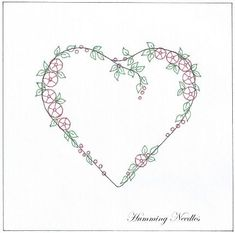 Wonderful Ribbon Embroidery Flowers by Hand Ideas. Enchanting Ribbon Embroidery Flowers by Hand Ideas. Embroidery Hearts, Learn Embroidery, Silk Ribbon Embroidery, Crewel Embroidery, Vintage Embroidery, Embroidery Books, Embroidery Tattoo, Embroidery Bracelets, Flower Embroidery