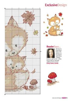 quilting like crazy Cross Stitch Baby, Cross Stitch Animals, Counted Cross Stitch Patterns, Cross Stitch Charts, Cross Stitch Designs, Cross Stitch Embroidery, Embroidery Patterns, Hand Embroidery, Loom Patterns