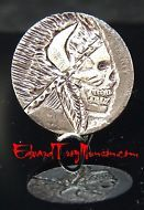 Hobo Buffalo Nickel Coin with Skull Artwork !!!