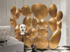 GOLD Folding Screen-Paravent-Room Divider by Pedro Sousa from BOCA DO LOBO (Limited Edition Collection, 2008)-5 (photo by Pedro Saraiva) #bocadolobo  #luxurydesign #luxuryfurniture www.bocadolobo.com