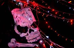 """Because scary Parties are best at night....we added """"glow-in-the-dark"""" decoration features into the design."""