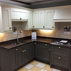 Kitchen Showrooms Online studio chatsworth painted ash kitchen with hardwood worktops
