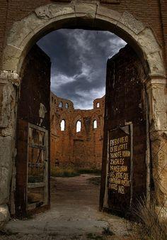 Pueblo viejo de Belchite, Aragona, Espagna