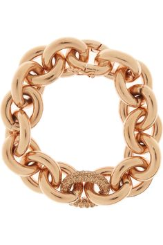 Eddie Borgo | Rose gold-plated crystal chain bracelet | NET-A-PORTER.COM love this chunky, go with everything, able to stack bracelet.  plays well with others.