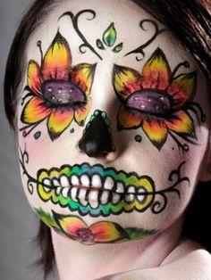 Maquillaje Halloween: Calaveras mexicanas 7
