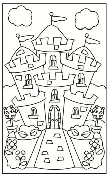 Princess - Ice Water Press Cute Coloring Pages, Adult Coloring Pages, Coloring Sheets, Coloring Books, Early Childhood Activities, Activities For Kids, Fairy Tale Theme, Fairy Tales, Castle Coloring Page