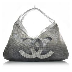CHANEL Perforated Lambskin Hollywood Hobo Metallic found on Polyvore
