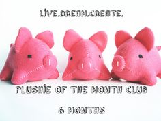 Plushie of the Month Club  Animals  6 Month Subscription by Kklaus, $108.00