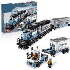 (62.18$)  Buy here  - Lepin 21006 Maersk Train Technic Train Building Bricks Blocks New year Gift Toys for Children Boy ecudational 10219