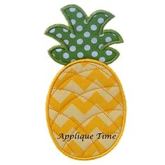 Pineapple Applique - 3 Sizes! | Featured Products | Machine Embroidery Designs | SWAKembroidery.com