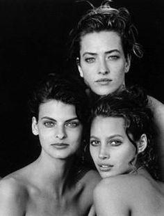 Linda Evangelista, Christy Turlington, Tatiana - Peter Lindberghl 1989