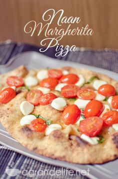 Naan Margherita Pizza-3 DUH! How have I not thought of this??? Must buy Naan tomorrow.