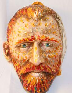 Beautiful handmade masks like this of Vincent Van Gogh Venetian Mask  Carnival Mask by VenetianArtiquity, $150.00