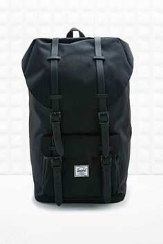Herschel Rubber Strap Little America Backpack in Black Herschel Rucksack,  Herschel Supply Backpack, Men s 3985d67cd1