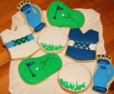 how fun! Golf cookies!
