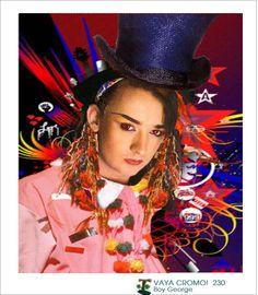 Boy George / Vaya cromo! nº 230 by Quique Fdez. (2007) / #Collage Boy George, Solo Music, Culture Club, Rhythm And Blues, Pop Bands, Androgynous, New Wave, Reggae, Blue Eyes