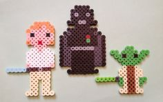 Star Wars Luke, Darth Vader, Yoda Perler Beads by SongbirdBeauty