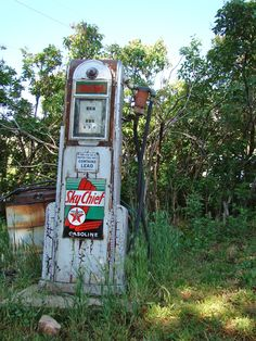 the old gas pump Longs Gardens Boulder CO