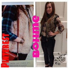 Didn't see the whole fur vest trend coming, but hey i'll take it! hope it looks this good on me! #bohme #bohmebeauty #fall #flannel #trending #fashion