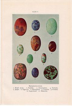 Semi-precious stones make beyond-beautiful art. #etsy #etsyfinds