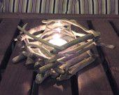 Driftwood Candle Holder, Beach wedding, Driftwood centerpiece