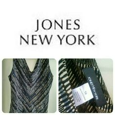 Jones New York Silk Top Sleeveless top from Jones New York. 100% Silk and in EXCELLENT condition. Jones New York Tops