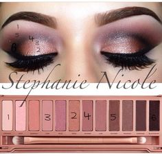 Urban Decay Naked3 Look - LOVE the Naked 3. Nailed it with the perfect rose gold shades!!!