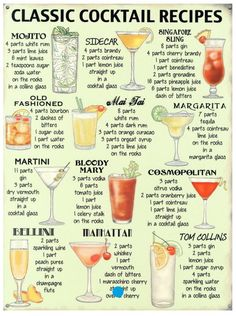 12 classic cocktail receipts