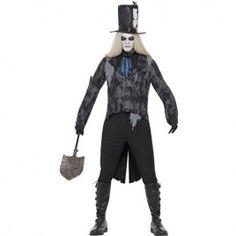 Costume homme croque-mort fantôme