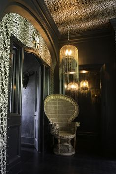 Take a walk on the wild side with this wonderful flocked ocelot print wallpaper -PANTANAL from the Wallpaper Collection Cage Pendant Light, Small Pendant Lights, Cage Light, Black Pendant Light, Brave Wallpaper, Leopard Print Wallpaper, Hanging Lanterns, Hanging Lights, Interior And Exterior