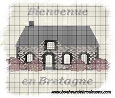 Bretagne - breizh - maison - point de croix - cross stitch - Blog : http://broderiemimie44.canalblog.com/