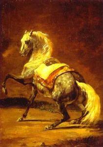 Gris grison cheval - (Théodore Géricault)