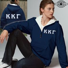 Something Greek carries premium Zeta Phi Beta Sorority Apparel, Paraphernalia, & Gifts at the lowest prices! Sigma Lambda Gamma, Alpha Phi Sorority, Sorority Life, Sorority Letters, Custom Greek Apparel, Charles River, Sorority Outfits, Greek Clothing, Pullover