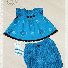 Two piece outfit for baby girls.Short dress with ruffled sleeves.Baggy pants with comfortable elasic waist and legs. Unique Baby Clothes, Three Cats, 9 Month Olds, Baby Kittens, Two Piece Outfit, Baby Dress, Boho Shorts, Short Dresses, Babies