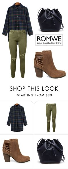 """""""ROMWE Blouse"""" by tania-alves ❤ liked on Polyvore featuring Current/Elliott, Steve Madden and Lacoste"""