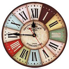 2016 On Sale!! NEW Best Wood Wall Clock Vintage Quartz Large Wall Watch Roman Numbers European Style Mordern Design Wall Clocks