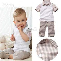 Wholesale Children's Outfits & Sets - Buy 2013 Summer Baby Boys Suits Vest+Plaid T-shirt+Shorts Cute Kids Clothing Sets $13.2 | DHgate