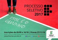 Santa Filomena Atual: IF Sertão-PE lança edital do Processo Seletivo 201...