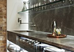 The butler's pantry at #TheFourthWall #kitchen concept by #Poggenpohl.