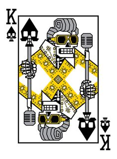 King of Spades - Dead King playing cards