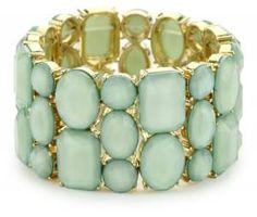 Hot Wedding Trends for 2013--#1 Mint: Mint Bracelet #mint #mint_wedding (www.3d-memoirs.com)