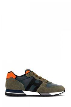 Hogan Herren Sneaker H383 Nastro Olive | SAILERstyle Balenciaga, Sneakers, Shoes, Fashion, Velvet, Olives, Leather, Women's, Tennis