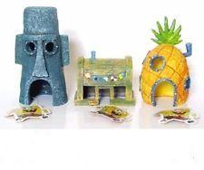 spongebob fish tank ornaments set of 3 aquarium sponge bob squarepants - Spongebob Bedroom Set