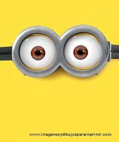 dibujo de los ojos de los minions