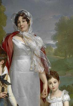 Madame la Maréchale Lannes, detail