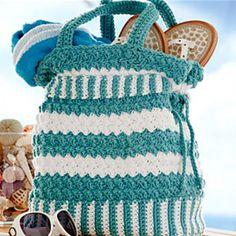 CROCHET PATTERN PURSE Tote Handbag Seaspray Summer Handbag by JocelynDesigns on Etsy