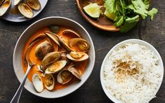 Palourdes cari-coco – Savourer par Geneviève O'Gleman Valeur Nutritive, Nutrition, Clams, Hummus, Thai Red Curry, Cooking, Ethnic Recipes, Food, Fruit
